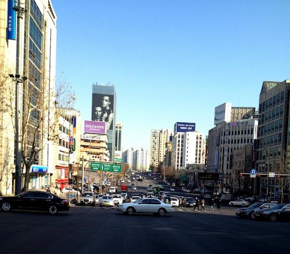 ソウルの朝 街並み