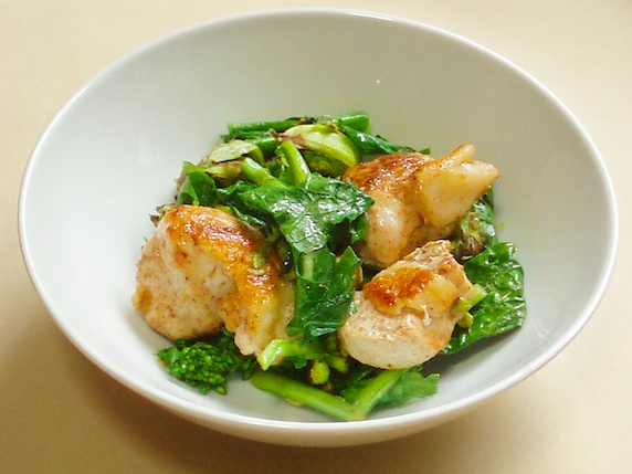 鶏肉の春野菜炒め