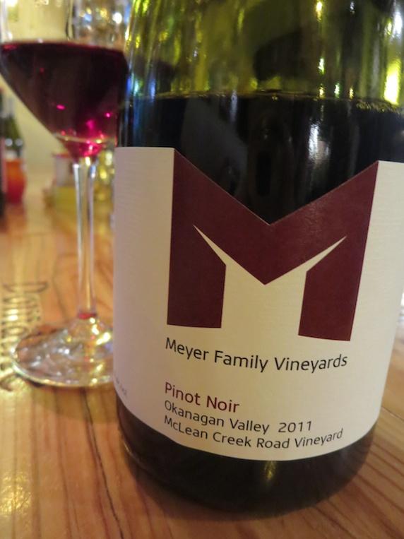 2011 Meyer Family Vineyards McLean Creek Pinot Noir