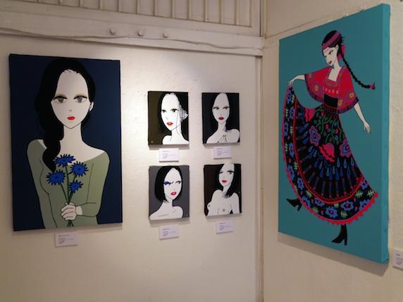 「立澤香織個展「portrait5」展示の様子」
